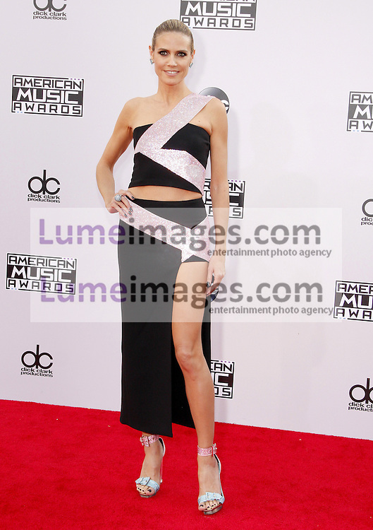 Heidi Klum at the 2014 American Music Awards held at the Nokia Theatre L.A. Live in Los Angeles on November 23, 2014 in Los Angeles, California. Credit: Lumeimages.com