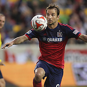 Mike Magee, Chicago Fire, in action during the New York Red Bulls Vs Chicago Fire, Major League Soccer regular season match at Red Bull Arena, Harrison, New Jersey. USA. 10th May 2014. Photo Tim Clayton
