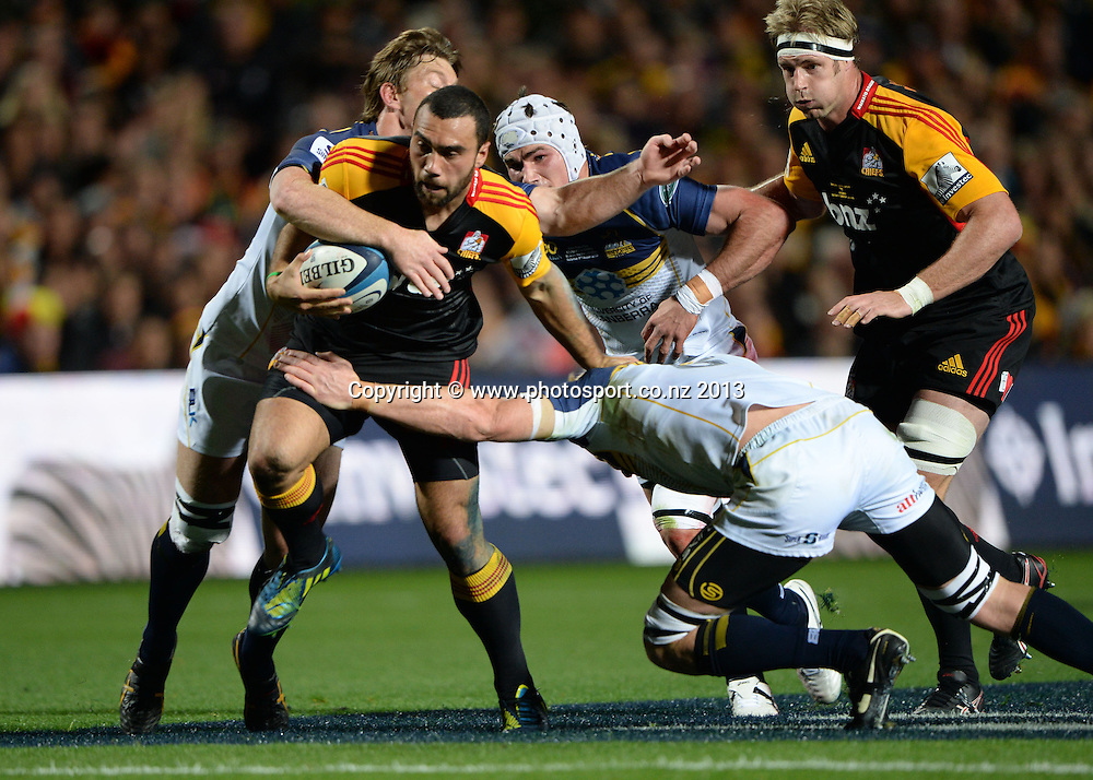 Charlie Ngati. Super Rugby Final. Chiefs v Brumbies. Waikato Stadium, Hamilton, New Zealand on Saturday 3 August 2013. Photo: Andrew Cornaga/www.Photosport.co.nz