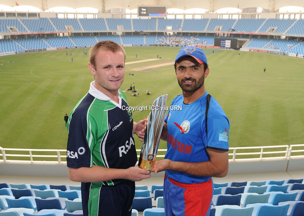 ICC World Twenty20 Qualifier UAE 2012.Ireland take on Afghanistan in the final of the tournament at the Dubai International Cricket Stadium, Dubai..Pic shows