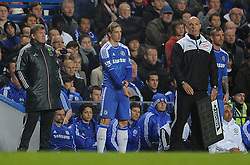 20.11.2011, Stamford Bridge Stadion, London, ENG, PL, FC Chelsea vs FC Liverpool, 12. Spieltag, im Bild Liverpool manager Kenny Dalglish next to Chelsea's Fernando Torres and Raul Meireles during the football match of English premier league, 12th round, between FC Chelsea and FC Liverpool at Stamford Bridge Stadium, London, United Kingdom on 20/11/2011. EXPA Pictures © 2011, PhotoCredit: EXPA/ Sportida/ Chris Brunskill..***** ATTENTION - OUT OF ENG, GBR, UK *****