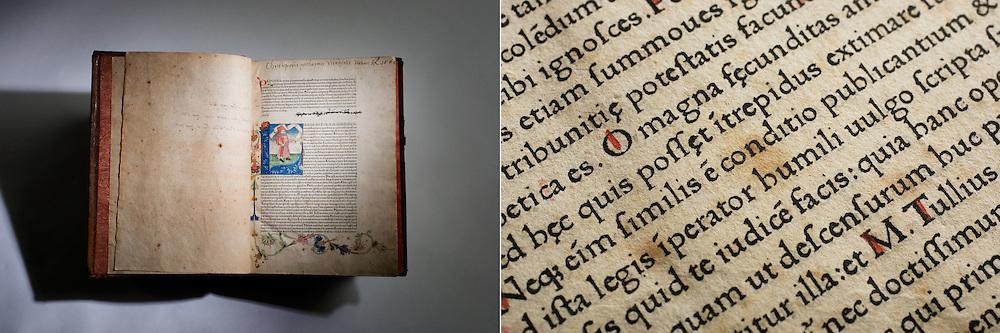 Pliny book and detail. Stanford Archives