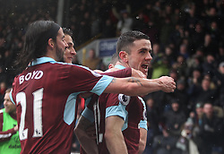 Robbie Brady of Burnley celebrates scoring his sides fist goal - Mandatory by-line: Jack Phillips/JMP - 12/02/2017 - FOOTBALL - Turf Moor - Burnley, England - Burnley v Chelsea - Premier League
