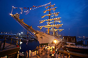 Newport, RI 2007 - Tallships from aro0und the world congregate in Newport for the summer of 2007 Tallshiops festival.