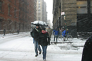 New York, Manhattan under the snow / Manhattan sous la neige