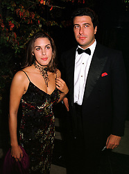 MISS JESSICA DE ROTHSCHILD and MR EDUARDO TEODORANI nephew of Fiat chief Giovanni Agnelli, at a dinner in London on 21st October 1999.MYA 130