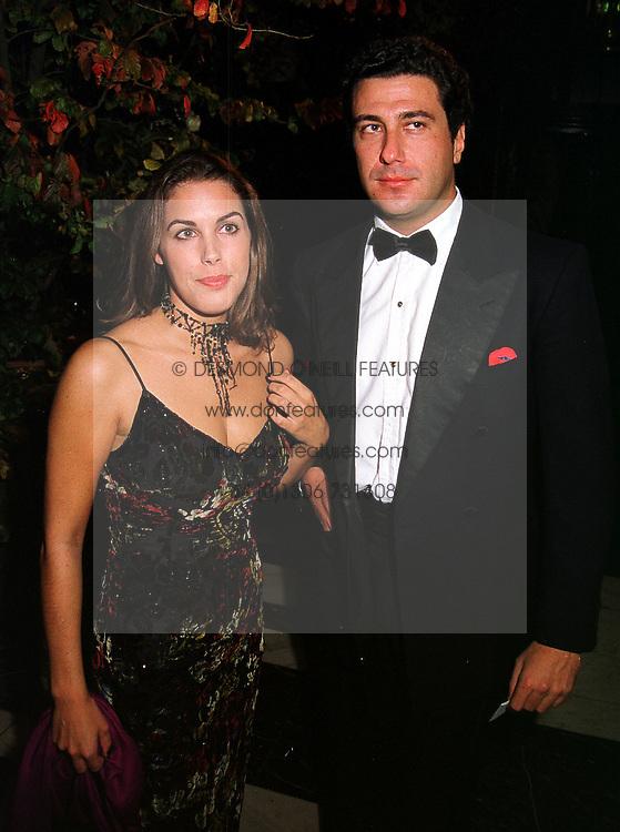 MISS JESSICA DE ROTHSCHILD and MR EDUARDO TEODORANI nephew of Fiat chief Giovanni Agnelli, at a dinner in London on 21st October 1999.MYA 130