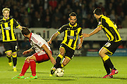 Burton Albion midfielder Robbie Weir wins the ball in midfield during the Sky Bet League 1 match between Burton Albion and Sheffield Utd at the Pirelli Stadium, Burton upon Trent, England on 29 September 2015. Photo by Aaron Lupton.