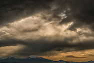 Big Hole Valley, Beaverhead Mountains, Wisdom, Montana, sunset, storm clouds
