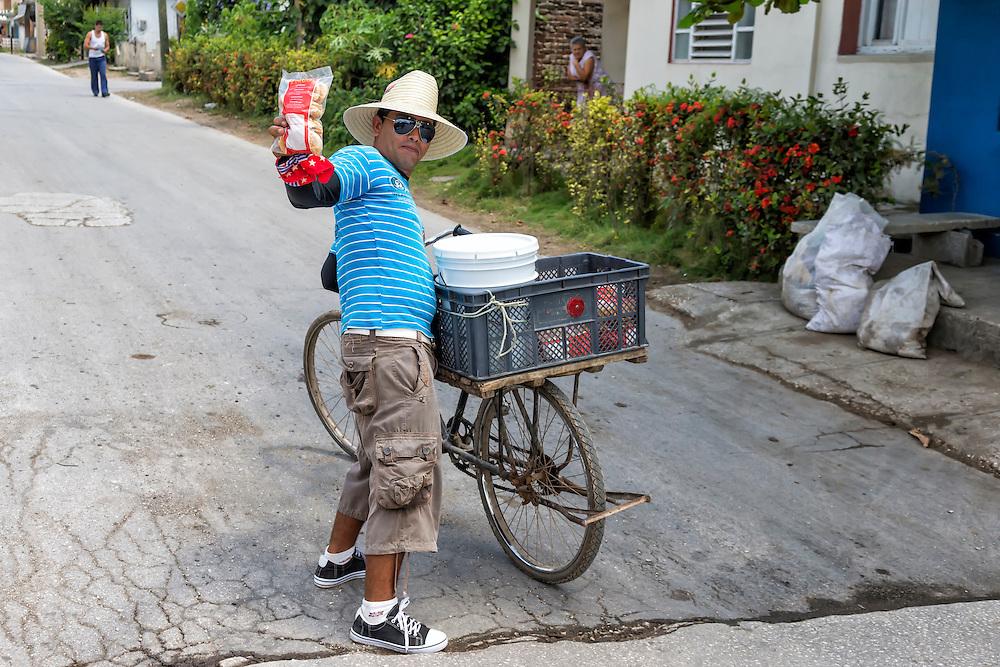 Street hawker in Holguin, Cuba.