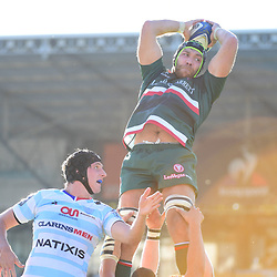 Graham Kitchener of Leicester during the European Rugby Champions Cup match between Racing 92 and Leicester Tigers on October 14, 2017 in Colombes, France. (Photo by Dave Winter/Icon Sport)