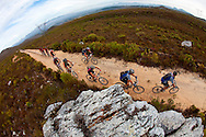 Oak Valley ( Elgin / Grabouw ), SOUTH AFRICA - riders climbing in Lebanon Nature Reserve during stage six of the Absa Cape Epic Mountain Bike Stage Race in Oak Valley ( Elgin / Grabouw ) on the 27 March 2009 in the Western Cape, South Africa..Photo by Sven Martin /SPORTZPICS