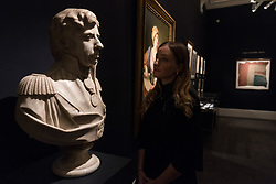 © Licensed to London News Pictures. 11/01/2018. London, UK. An after model bust British national hero and legend LORD HORATIO NELSON (circa 1800) by MATTHIAS RANSON estimate of £18,000-£25,000. Photo credit: Ray Tang/LNP