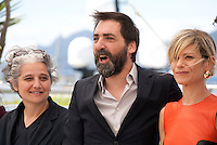 Viola Prestieri, Stefano Mordini, Marina Foisat the Pericle (Pericle Il Nero) film photo call at the 69th Cannes Film Festival Thursday 19th May 2016, Cannes, France. Photography: Doreen Kennedy