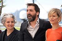 Viola Prestieri, Stefano Mordini, Marina Foisat the Pericle (Pericle Il Nero) film photo call at the 69th Cannes Film Festival Thursday 19th May 2016, Cannes, France. Photography: Doreen Kennedy