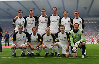 Photo: Andrew Unwin.<br /> Hearts v Gretna. Tennants Scottish Cup Final. 13/05/2006.<br /> The Gretna team line up for a team photo before the game.