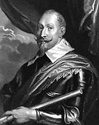 Gustav II Adolf (Gustavus Adolphus 1594-1632) King of Sweden from 1611. Leader of Protestants in Thirty Years War. Engraving after portrait by Van Dyck (Van Dyke).