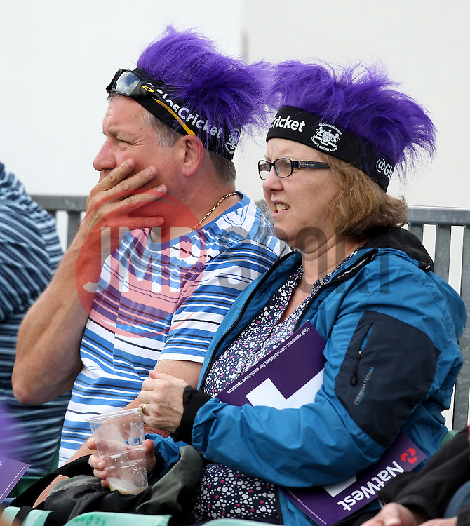 Fans watch on as Gloucestershire and Sussex battle on the pitch - Photo mandatory by-line: Robbie Stephenson/JMP - Mobile: 07966 386802 - 26/06/2015 - SPORT - Cricket - Bristol - The County Ground - Gloucestershire v Sussex - Natwest T20 Blast