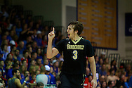 November 25 2015: Vanderbilt Commodores Luke Kornet celebrates an early three pointer during the Maui Invitational Championship game at Lahaina Civic Center on Maui, HI. (Photo by Aric Becker)