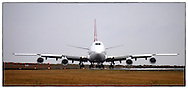 Copyright JIm Rice © 2013.Qantas 747 about to take off Sydney airport