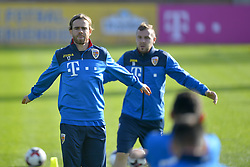 November 13, 2017 - Mogosoaia, Romania - Eric Bicfalvi, Cosmin Moti of Romania Football Team during a training session at Mogosoaia, Romania on 13 November 2017. (Credit Image: © Alex Nicodim/NurPhoto via ZUMA Press)