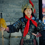 Xian wall guard, Xian, China (May 2004)