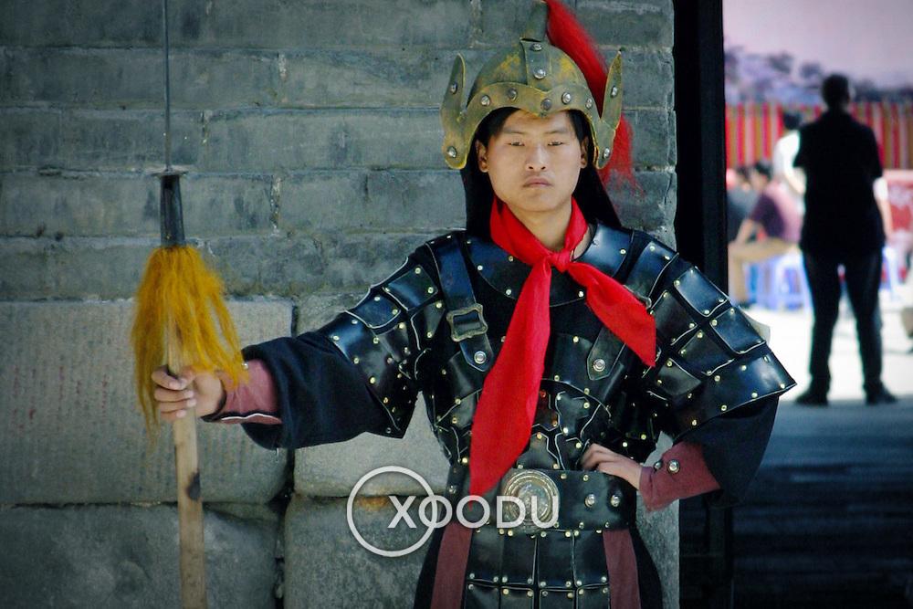 Xian wall guard, Xian, China (May 2004)