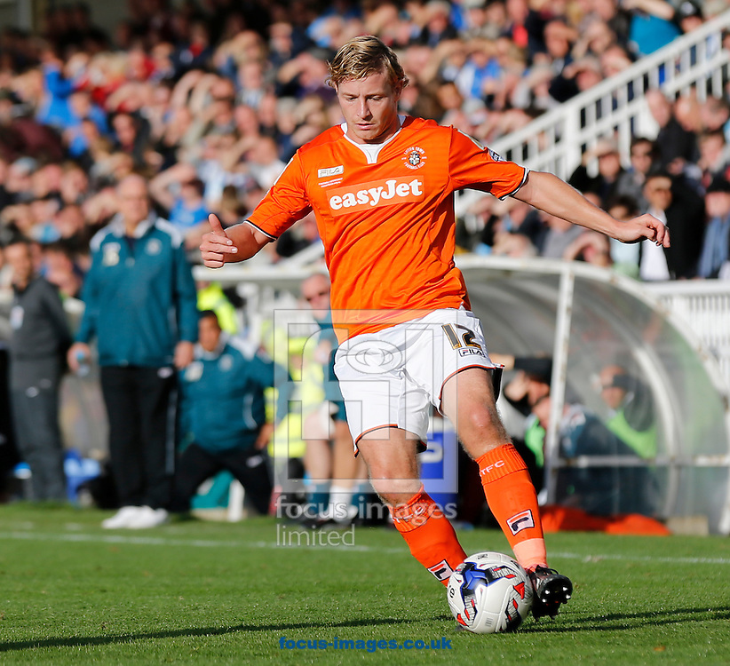 Scott Griffiths of Luton Town during the Sky Bet League 2 match at Victoria Park, Hartlepool<br /> Picture by Simon Moore/Focus Images Ltd 07807 671782<br /> 18/10/2014