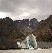 As climates changes things the worlds glaciers seem to be losing massive pieces of ice. Tasman Lake, Aoraki (Mt.Cook) often has glaciers floating that have calved off the terminal face. The abstract nature of the ice leads to a lot of odd shapes - trojan horse masquerading as an large block of ice.  This image was taken whilst on a zodiac tour on the lake - well worth it if you are ever visiting the area.