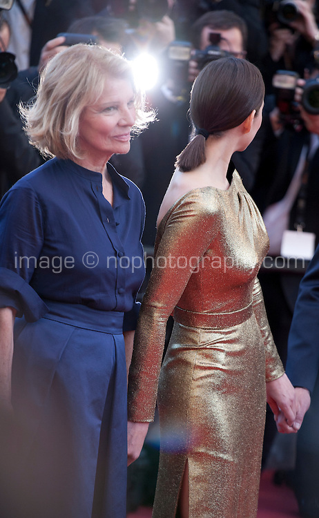 Director Nicole Garcia, actress Marion Cotillard at the gala screening for the film Mal De Pierres (From the Land of the Moon) at the 69th Cannes Film Festival, Sunday 15th May 2016, Cannes, France. Photography: Doreen Kennedy