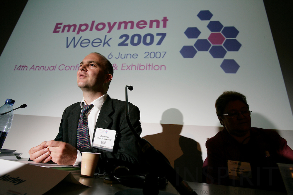 BRUSSELS - BELGIUM - 05 JUNE 2007 -- Employment Week 2007 -- John HURLEY, Research Officer, Working Conditions, European Foundation for the Improvement of Living and Working Conditions. Photo: Erik Luntang/INSPIRIT Photo