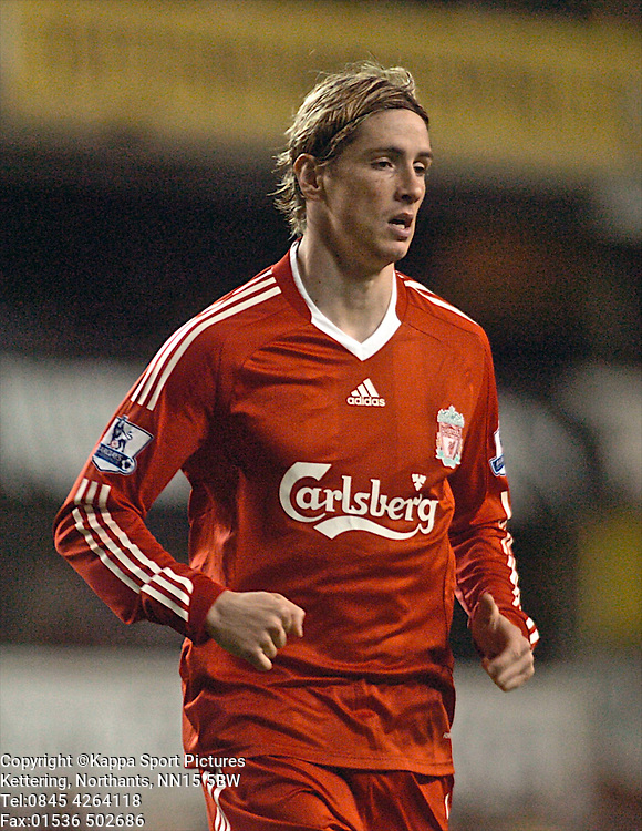FERNAND TORRES, LIVERPOOL, Tottenham Hotspur - Liverpool, Carling Cup White Hart Lane Wednesday 12th November 2008, 12/11/08