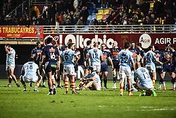 February 23, 2019 - Perpignan, France - Fin de match entre Perpignan vs Agen (Credit Image: © Panoramic via ZUMA Press)