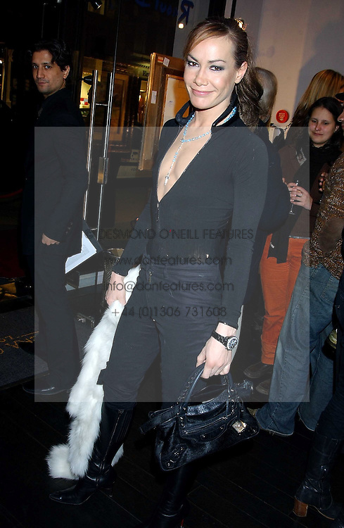 TARA PALMER-TOMPKINSON at the opening of an exhibition of paintings and watercolours by Raoul Dufy held at the Opera Gallery, 134 New Bond Street, London W1 on 6th February 2006.<br />