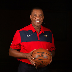 Sep 24, 2018; New Orleans, LA, USA; New Orleans Pelicans head coach Alvin Gentry poses for a portrait during Media Day at Ochsner Performance Center. Mandatory Credit: Derick E. Hingle-USA TODAY Sports