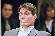 Actor Christopher Reeve makes a statement financial burdens of disable persons to a Congressional hearing April 14, 1999 in Washington, DC. Reeve's was paralyzed in a horse riding accident and has become an outspoken advocate for the disabled.