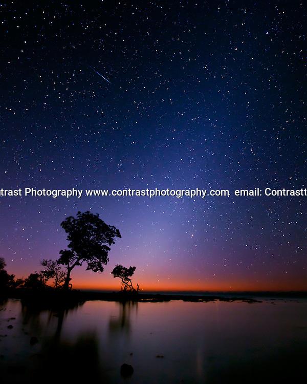 04 Jan 2012: The Quadrantid Meteor and the Zodiac Lights at Spanish Harbor Keys, FL..Mandatory Credit:Todd Bauders/ContrastPhotography.com