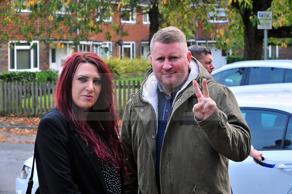 © Licensed to London News Pictures.17/10/2017.<br /> Sevenoaks, UK.<br /> Britain First leader Paul Golding 35 and Deputy Leader Jayda Fransen at Sevenoaks Magistrates Court, Kent charged with religiously aggravated harassment.<br /> Photo credit: Grant Falvey/LNP