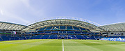General view of the American Express Community Stadium ahead of the FIFA Women's World Cup UEFA warm up match between England Women and New Zealand Women at the American Express Community Stadium, Brighton and Hove, England on 1 June 2019.