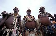 Three Zulu cheifs and elders at the celebratory feast. Zululand..©Zute Lightfoot .DVD0018