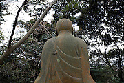 old and weathered Japanese Buddhist monument