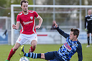23-04-2016: Voetbal: Sportlust'46 v Zwaluwen: Woerden<br /> <br /> (L-R) Luke Molkenboer van Sportlust '46, Perry Bakx van vv Zwaluwen<br /> <br /> Foto: Gertjan Kooij