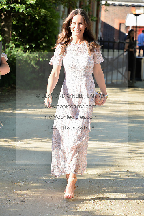 PIPPA MIDDLETON at the Frost Family Summer party in support of the British Heart Foundation and the Mile Frost Fund held at Burton Court, Chelsea, London  on 18th July 2016.