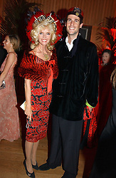 COUNTESS GUNILLA VON BISMARCK and FRANCESCO ORTIZ-VON BISMARCK at Andy & Patti Wong's Chinese New Year party to celebrate the year of the Rooster held at the Great Eastern Hotel, Liverpool Street, London on 29th January 2005.  Guests were invited to dress in 1920's Shanghai fashion.<br /><br />NON EXCLUSIVE - WORLD RIGHTS