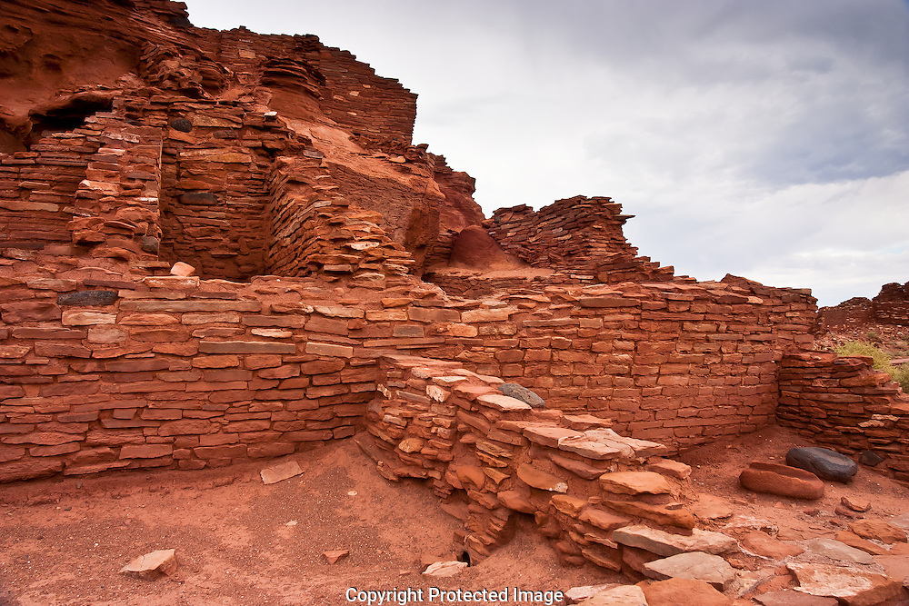 Wupatki National Monument located in Northern Arizona protects the ancient dwellings of puebloan people