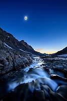 The 2017 solar eclipse, Wind River Mountains, USA.