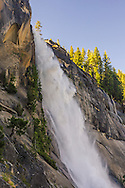 Nevada Fall, (594') Grand Staircase of the Merced River, Yosemite National Park, California