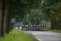 Peloton approach at Boels Rental Ladies Tour Stage 4 a 121.4 km road race from Gennep to Weert, Netherlands on September 1, 2017. (Photo by Sean Robinson/Velofocus)
