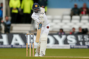Sri Lanka Dushmantha Chameera  is out to England & Middlesex bowler Steven Finn  during day 3 of the first Investec Test Series 2016 match between England and Sri Lanka at Headingly Stadium, Leeds, United Kingdom on 21 May 2016. Photo by Simon Davies.