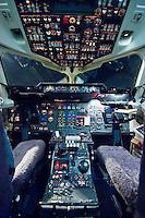 Empty aeroplane cockpit